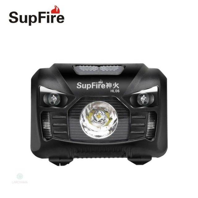 Frontal LED Supfire HL06 Linterna 300lm recargable Frontales Luces